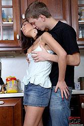 Teen seduces boyfriend for anal sex