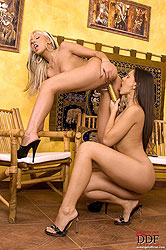 Sexy Adriana & Eve Angel having sex