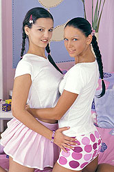 Dildos and Pigtails lesbian teens