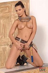 Brunette Eve Angel having DIY sex