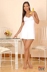 Eve Angel masturbating with banana