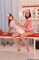 Eufrat & Eve Angel latex nurses fun