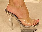 Exotic looking Sierra pampering her wonderful legs