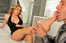 Ana in a hardcore anal fucking with foot fetish