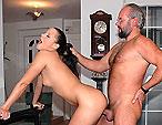 Kinky Adrienne gets seasoned old mans hard cock