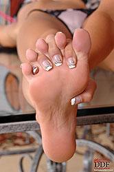 Nasty foot fetish lesbian sex set