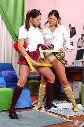 Simony & Zafira get wild in socks