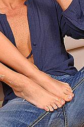 Pussy pounding foot fetish hardcore