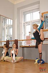 Leotard lovin at the  ballet studio