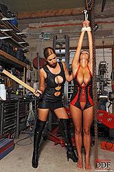 Lesbians Carol & Jannete spanking