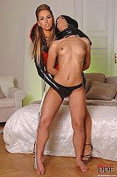 Alexa spanks naked Honey Demon!
