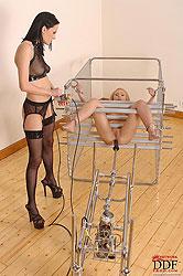 Hot bound Nataly Von machine fucked