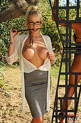 Krystal is hung out for a spanking!