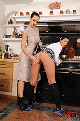 The kitchen disciplinary spanking!