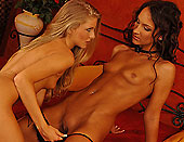 Sabrina learn lesbo lesson from skinny girlfriend