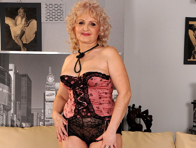 Granny having a hot 3some act with young couple