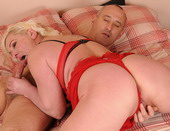 Horny granny Molly got fucket by a younger lover