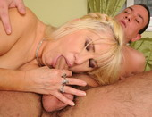 Horny granny Freisa seduce a young hard cocked guy