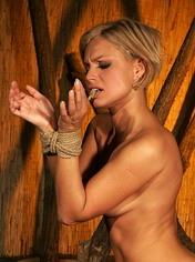 Beautiful slavegirl enjoys suffering by clips