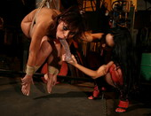 New domme Wendi and her newcummer victim Szilvia