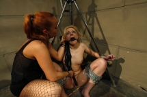 Katy Parker and Ary in a lesbian domination action