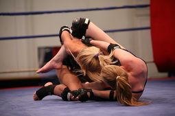 Sexy babes are having sex after a wilde wrestling