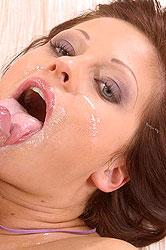 Cute Sheryl sucks her man to orgasm