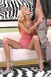 Jennifer Morante sucks a hard cock
