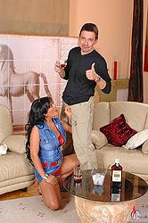 Jasmine Black sucking a hard cock