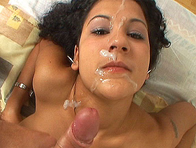 Hot gypsy girl Fatima sucking dick and gets facial