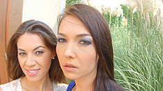 The two French ladies are back again -- its FistFlush time: Angelik stretches Tiffanys tiny pussy to the max with her hand until she cums with a magic wand. Jan-2016 2121