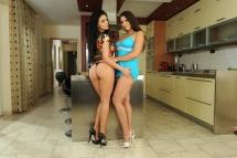 Two gorgeous porn divas Aletta Ocean and Zafira