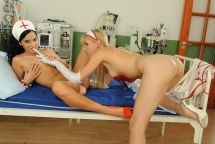 Bettina Dicapri and Sophie Moone in a dildoing act