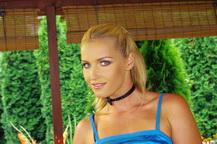 Sexy Kathia Nobili is masturbating as arrives home