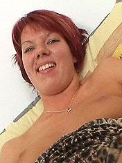 Hot redhead Nanette enjoying speculum in her cunt