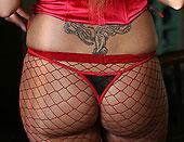 Kinky blonde pornstars having sex in fishnet