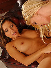 Sexy lesbian pornstars are anal fingering each