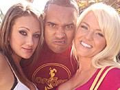 Krissy & Rhiannon - Two wild big tit whores fuck huge black cock