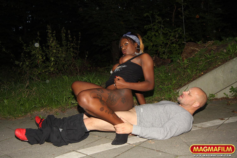 Black booty in public
