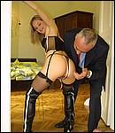British bonde shagged hard by a horny senior his stiffy cock