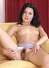 Teenage girlfriend spreading her hairy wet pussylips wide