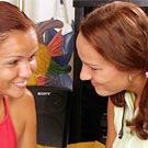 Two teenage brunette hotties sharing their favorite dildos