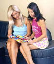 Petite teenage lesbian girls playing naughty sexual games