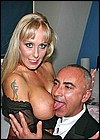 Ron Jeremy banging a dirty British slutty blonde with Jim