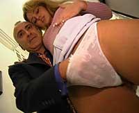 Sexy blonde streetslut fucked by a stiffy big senior cock