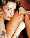Horny UK sluts masturbating their swollen pussy in the open