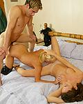 Two raunchy British sluts getting stuffed in all their holes