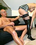 Horny big nippled UK slut in black stockings pounded hard