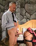 British milf slut gets Jimbo his stiff cock inside her twat