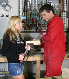 Blonde teenage beauty fucking her old and horny handyman